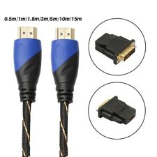 HDMI V1.4 Cable + DVI Adapter HD 3D For PS3 Xbox HDTV 1080P 0.5-15M Meters LOT