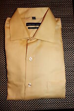 GEOFFREY BEENE MENS NO IRON CLASSIC FIT DRESS SHIRT YELLOW 2 SIZES RP $55.00 NWT