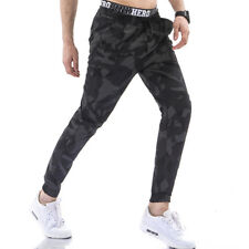 Mens Stylish Slim Camouflage Straight Trousers Casual Long Pants Sweatpants