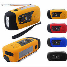 Luxury Solar Hand Crank Emergency Radio 2000mAh LED Flashlight Phone Charger