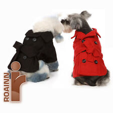 RED/BLACK NEW!!  DOG PET OUTWEAR CLOTHING Woolen Coat Jacket Winter Fall Puppy