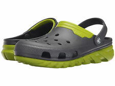 Crocs Duet Max Graphite / Volt Green Unisex Clog - Assorted Sizes