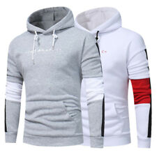 NEW Fashion Men's Slim Fit Splice Top Designed Pullover Hoodies Jackets Coats