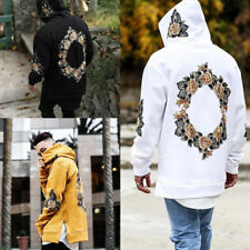 Men Hoodie Sweatshirt Hooded Coat Pullover Jumper Hoody Floral Jacket Tops UK