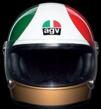2018 AGV X3000 GIACOMO AGOSTINI LIMITED EDITION RETRO CAFE RACER CRASH HELMET
