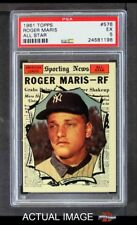 1961 Topps #576 Roger Maris - All-Star Yankees PSA 5 - EX