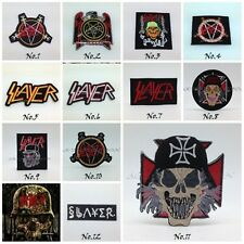Slayer Sew On Patch Embroidered Iron Logo Rock Band Metal Heavy Applique Badge