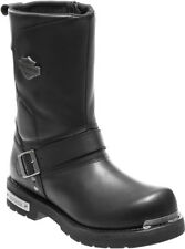 """Harley-Davidson® Mens 10"""" Paxford Black Leather Motorcycle FlexVent Boots D96137"""