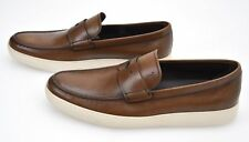 TOD'S MAN LOAFER SHOES DARK CAMEL LEATHER CODE XXM22A00010D9CC813