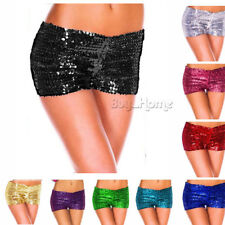 HOT Ladies Sequin Shorts Bling Sparkle Hotpants GoGo Dancer Clubwear Burlesque