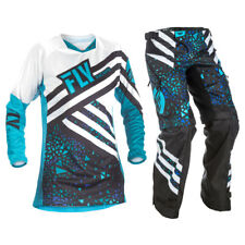 Fly Racing 2018 Youth Girls Kinetic Jersey OTB Pants Package - Blue/Black