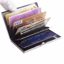 Credit Card ID Holder Slim Money Travel Wallet Men Stainless RFID Blocking Gift