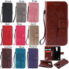 For LG Stylus 2 Luxury PU Leather Magnetic Flip Stand Card Slot Wallet Case