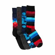Pack of 4 - Assorted Sock Gift Box, Size 10 -13 Happy Socks NWT