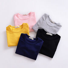 Girl Kids Tops Autumn Long Sleeve Cotton T-Shirt Cute Baby Clothes Blouse