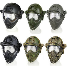 PJ Type Tactical Fast Helmet Gear Mask Goggle for War Game Airsoft Paintball L,S