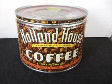 Old Vintage Holland House Coffee Tin, Key Wind , Great grapics