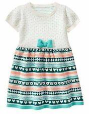NWT Gymboree Snowflake Fun Striped Sweater Dress 2T 3T 4T 5T Toddler Girl