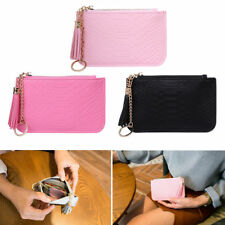 Women Key Coin Bag Purse Change Chain Ring Wallet Card Holder Faux Leather