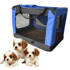 Sturdy Dog Crate Soft Sided Pet Carrier Foldable Training Kennel Portable Cage