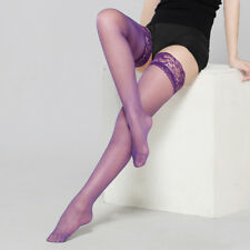 Sexy Women Lingerie Ultra thin Lace Top Stay Up Thigh High Silk Stockings XRU4
