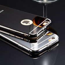 Luxury Mirror Aluminum Ultra-thin Case PC Back Cover for iPhone 7 6S 5S 5C Plus