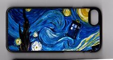 Doctor Who van Gogh Starry Night TARDIS Apple iPhone or iPod Case