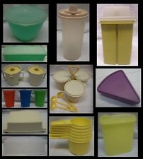 ASSORTED LOT OF 12 DIFFERENT  VINTAGE TUPPERWARE PIECES