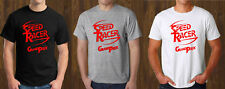Speed Racer Grand Prix Black T-Shirt Grey White Mens Tee Size S to 3XL