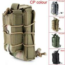 Tactical Military Open Double Rifle and Single Pistol Magazine Pouch Bag NEW