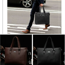 "Business Mens Soft Leather Briefcase Bag Handbag 13.3"" Laptop Shoulder Bag"