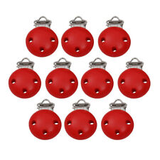 10pcs Baby Wooden Pacifier Soother Dummy Nipple Suspender Clips Holders DIY