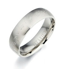 Free Personalized Engraved Any Words Wedding Ring Couple Titanium Ring AA30091