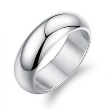 316L Stainless Steel Smooth Band 7MM Men/Women's Wedding Couple Rings Size 6-13