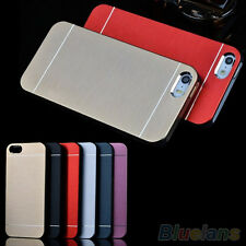 HK- New Luxury Metal Brushed Aluminum Shell Back Case Cover For iPhone 4 4S 5 5S