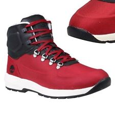TIMBERLAND MEN'S WESTFORD EURO HIKER RED MID EMBOSS Ankle Shoes BOOTS #A18RG USA