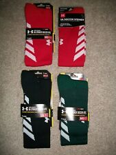 MENS SIZE M 4 - 8.5 UNDER ARMOUR OVER THE CALF STRIKER SOCCER SOCKS $17