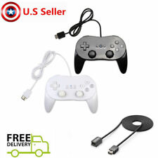 NEW Classic Gaming Controller Pro Nintendo Wii & U Remote Black White Extension
