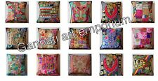 Indian Vintage Handmade Patch Work Cushion Cover Embroidered Pillow Cover