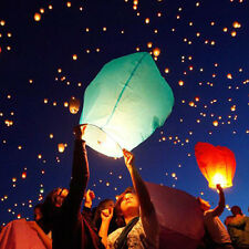 5pcs Sky Flying Paper Wishing Lanterns Lucky Light Wedding Party Assorted*