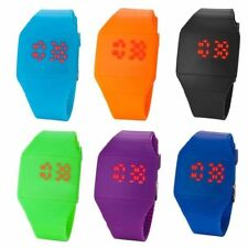 LED Watch Colourful Touch Operated LED Digital Silicone Strap