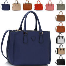 Large Ladies Office Handbag Faux Leather Tote Cross Body Women Shoulder Bags New