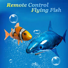 Inflatable Air Swimmers RC Remote Control Flying Shark Fish Balloon Toy For Kids