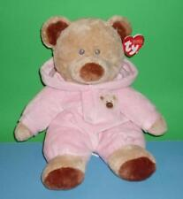 Adorable Brown Baby Bear Floppy Pink Plush Infant Tylux Doll Ty Pluffies 2011