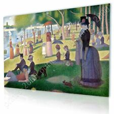 READY TO HANG CANVAS Sunday Afternoon Georges Seurat Frame Framed Wall Art