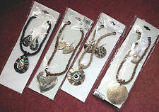 SHELL ABALONE NECKLACE EARRING BRACELET SETS Heart Pear Round NEW FREE P&P