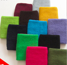 Couver Wrist Sweatband - Solid Cotton Terry Cloth Sport Wristband 2x (1 Pair)