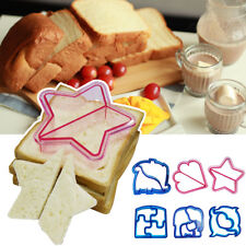6 Type DIY Kid Sandwich Toast Cookies Cake Bread Biscuit Food Cutter Mold Mould