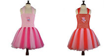 Girls Pink Red Tutu Princess Party Costume Ballet Dress Peppa Pig 3-7Y