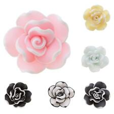 Handmade Polymer Clay Flower Brooch Vintage Wedding Handcrafted Lapel Pin
